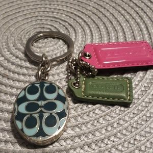 COACH LOCKET KEYCHAIN AND BONUS HANG TAGS